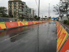 Competition Day at Pontal for time trial was more than a little damp unfortunately